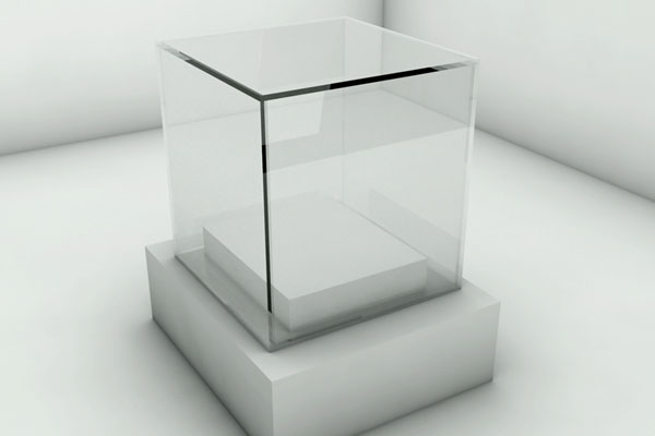 Fabricated plastic display case